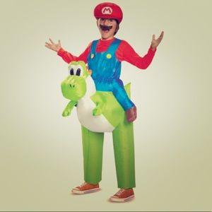 Kids Mario + Yoshi inflatable costume